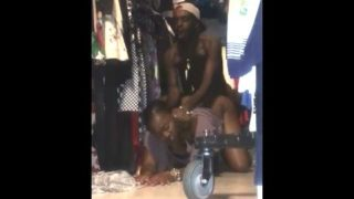 Deep pussy ramming – Employees fucking in the clothes store when nobody was looking