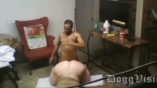 BBW maid fucked by bbc in the basement