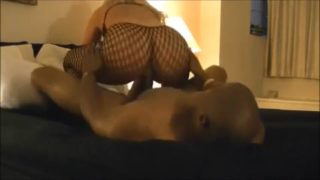 Thick blonde milf bouncing on a big black dick