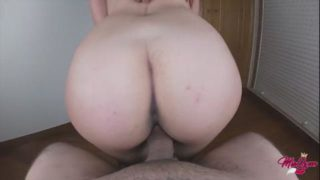 Amazing view of marvelous ass riding my dick pov