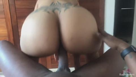 Thick Brazilian mami bouncing on the dick in POV