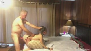 Submissive college girl rides then gets drilled HARD by her sugar daddy